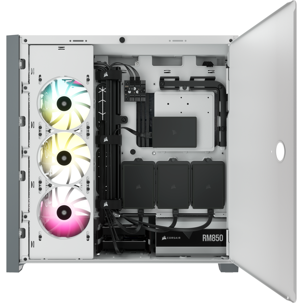 GEARVN.COM Case Corsair 5000D AIRFLOW Tempered Glass White