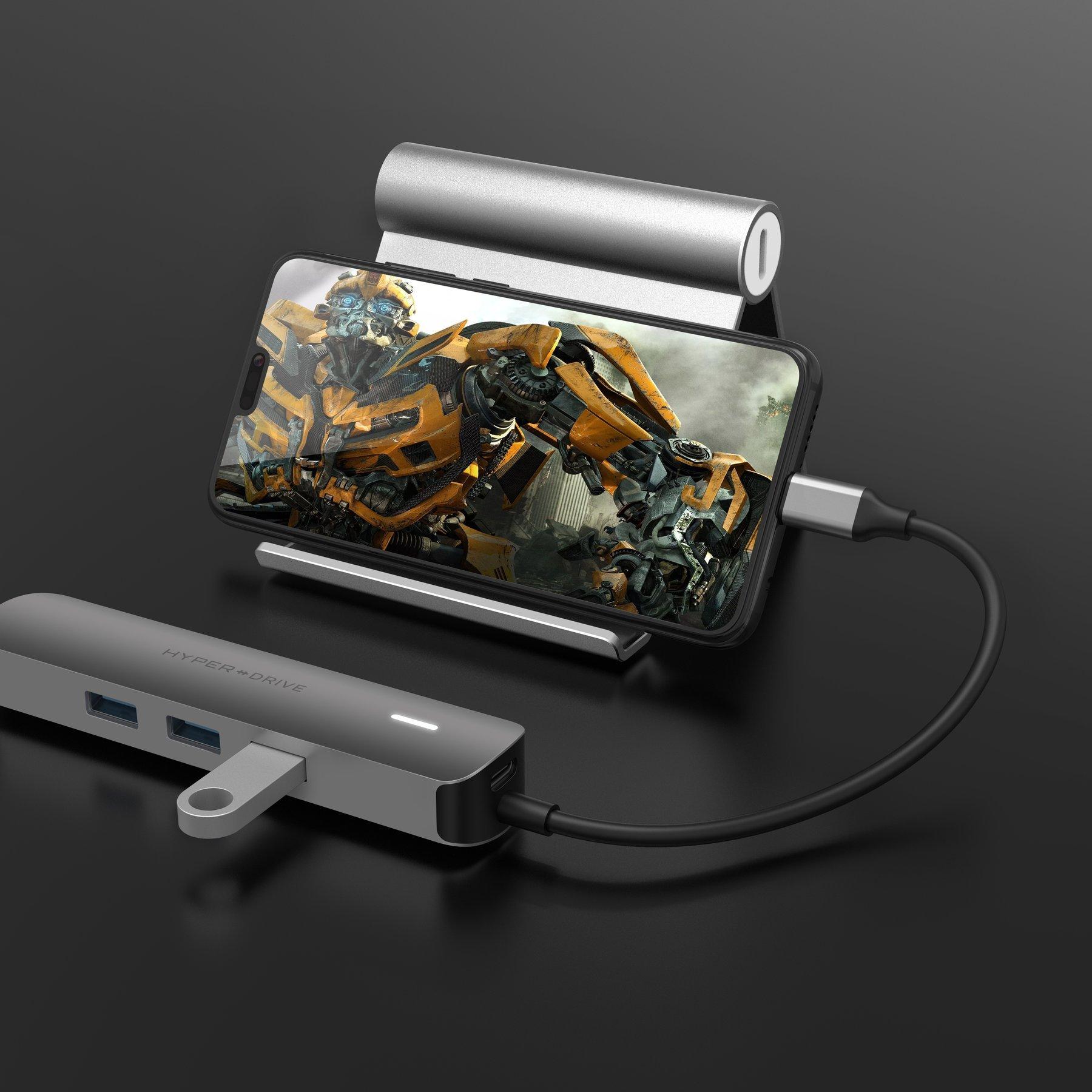 GEARVN.COM CỔNG CHUYỂN HYPERDRIVE 4K HDMI 6-IN-1 USB-C HUB FOR MACBOOK, SURFACE, ULTRABOOK, CHROMEBOOK, PC & USB-C DEVICES -HD233B