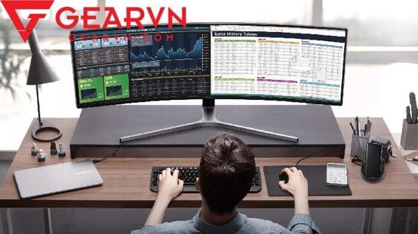GEARVN Khoảng cách giữa mắt và màn hình máy tính