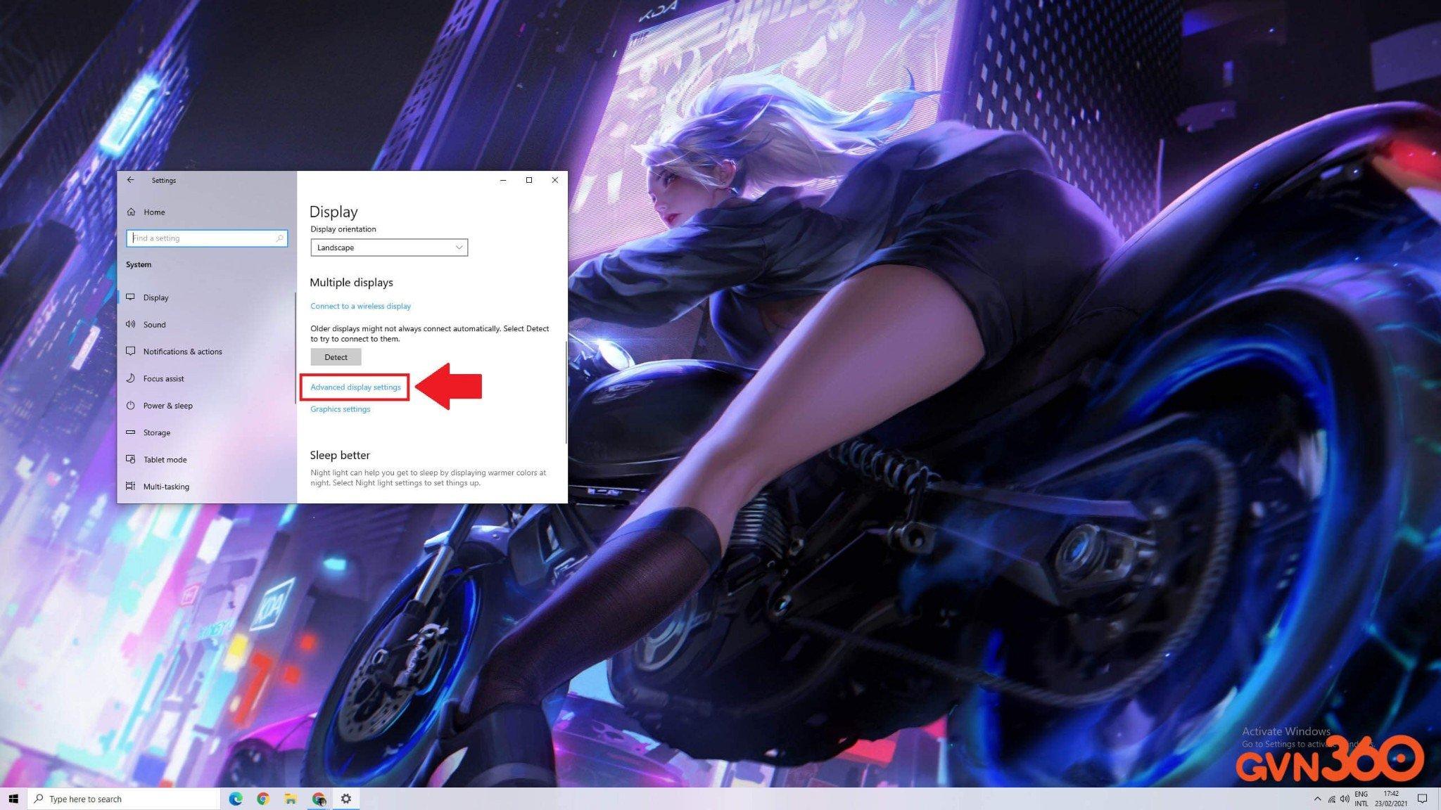 Cách cài đặt tần số quét màn hình máy tính chuẩn nhất - Bước 2