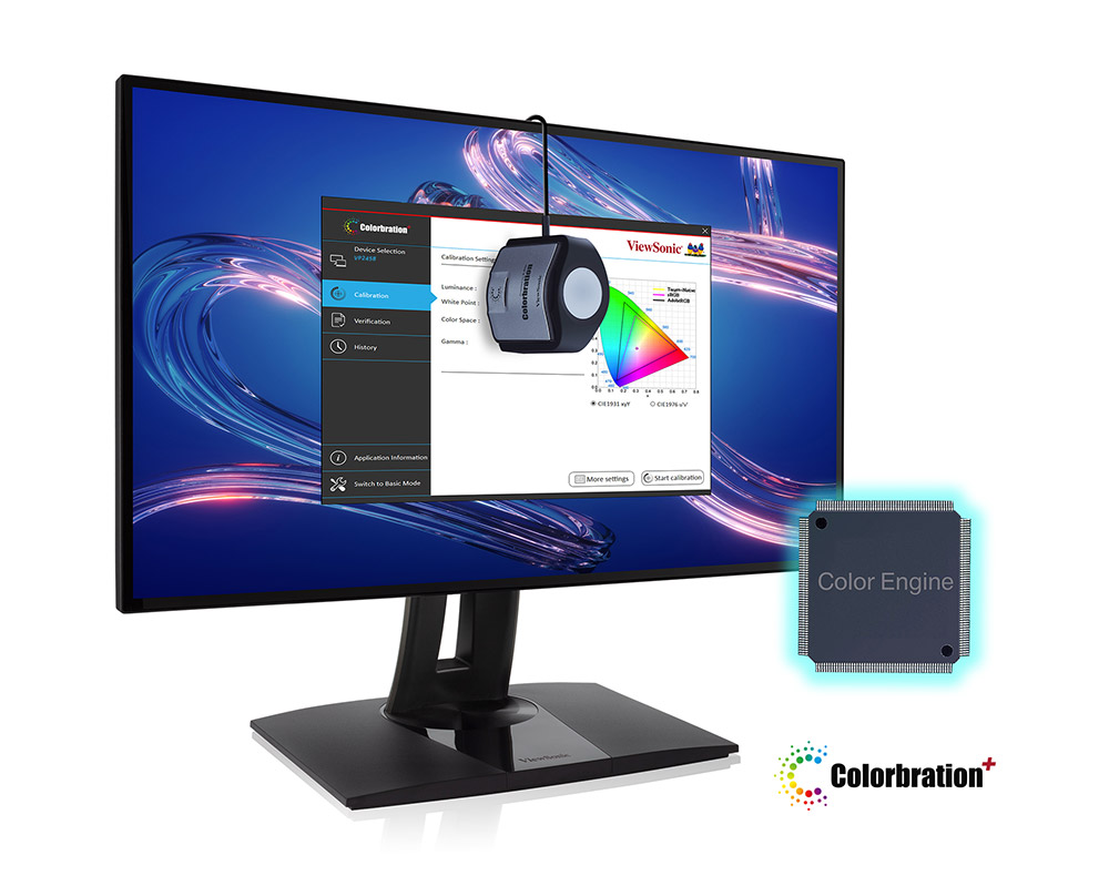 """Màn hình ViewSonic VP2458 chuyên đồ họa (24""""/IPS/FHD/60Hz/5ms/100% sRGB) 14"""