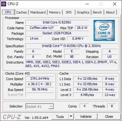 GEARVN.COM - Giao diện chính của phần mềm CPU-Z