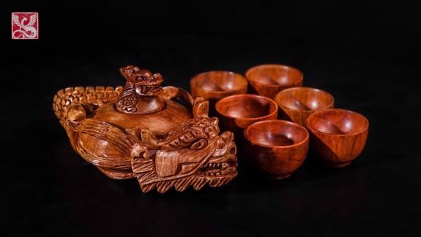 bàn trà gỗ hương