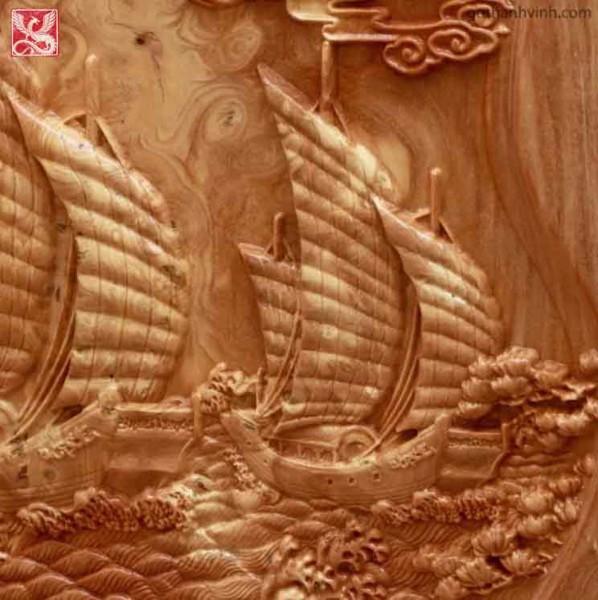 đồng hồ gỗ thuận buồm xuôi gió