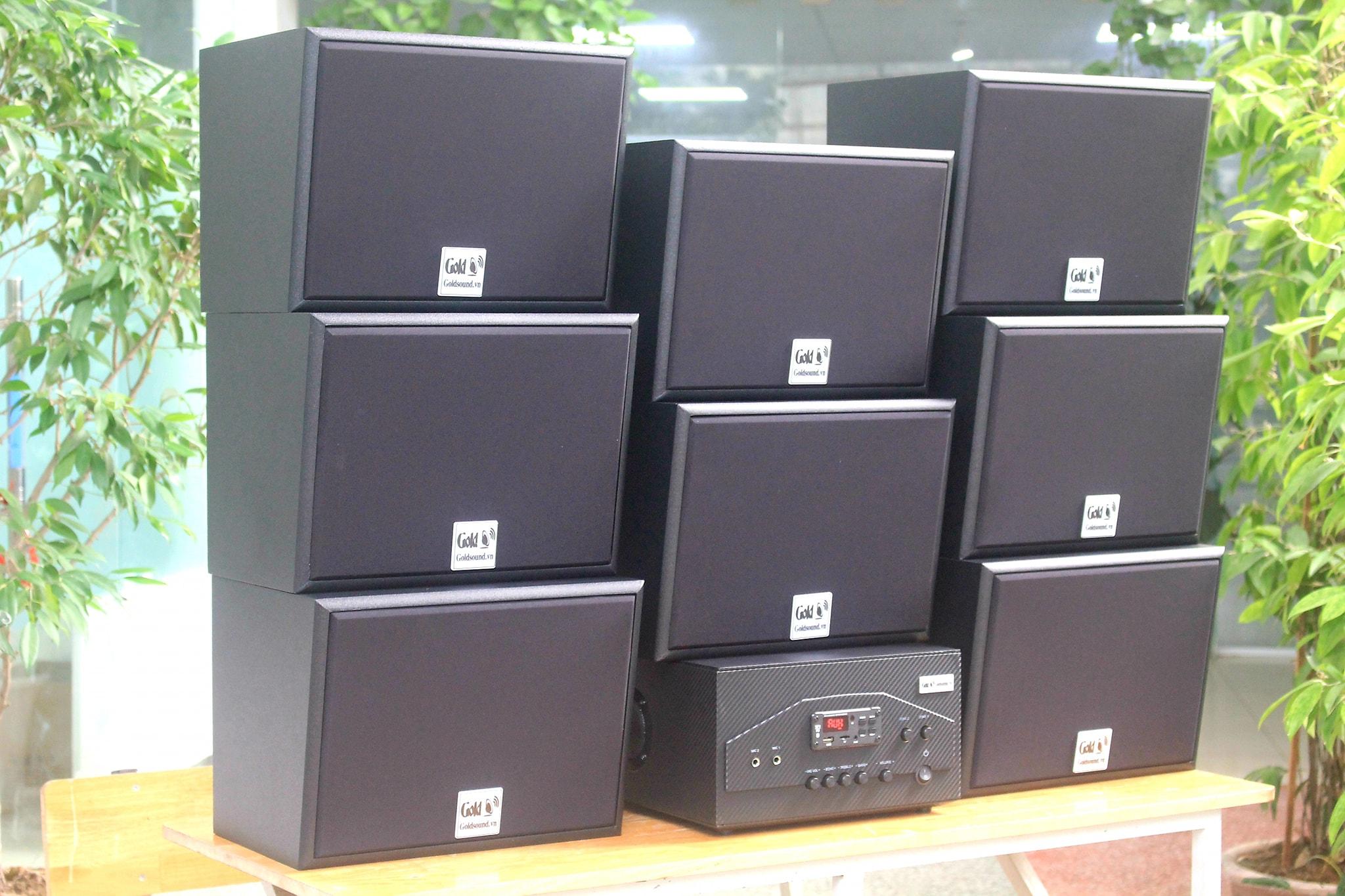 Loa cafe, loa nhà hàng: GIẢM 30% Lắp trọn gói Combo dàn âm thanh V130 chuyên dụng lắp QUÁN CAFE, PUB, HỘI TRƯỜNG, SPA, GYM.. rộng từ 40m2 - 200m2