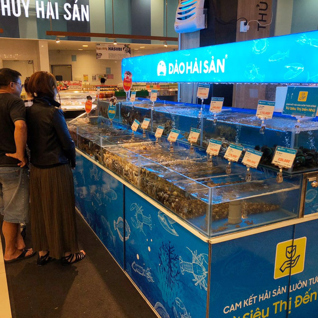 Điểm bán hải sản sống của Đảo Hải Sản tại siêu thị AEON MALL