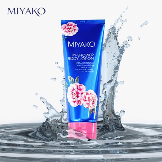miyako inshower body lotion extra whitening