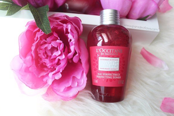 nuoc hoa hong l occitane pivoine sumblime perfecting toner 200ml