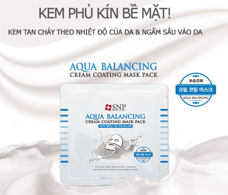 mat na duong am da snp aqua balancing cream coating mask pack des 1