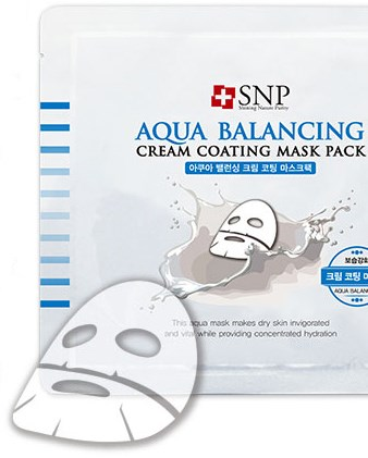 mat na duong am da snp aqua balancing cream coating mask pack des 3