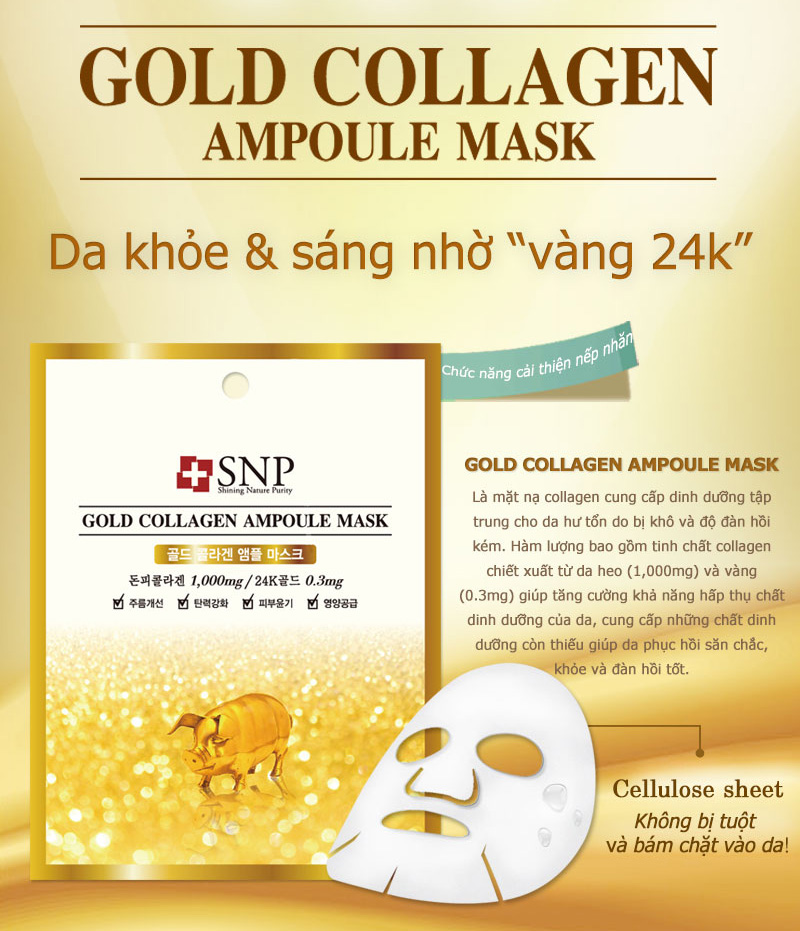mat na gold collagen ampoule mask des 1