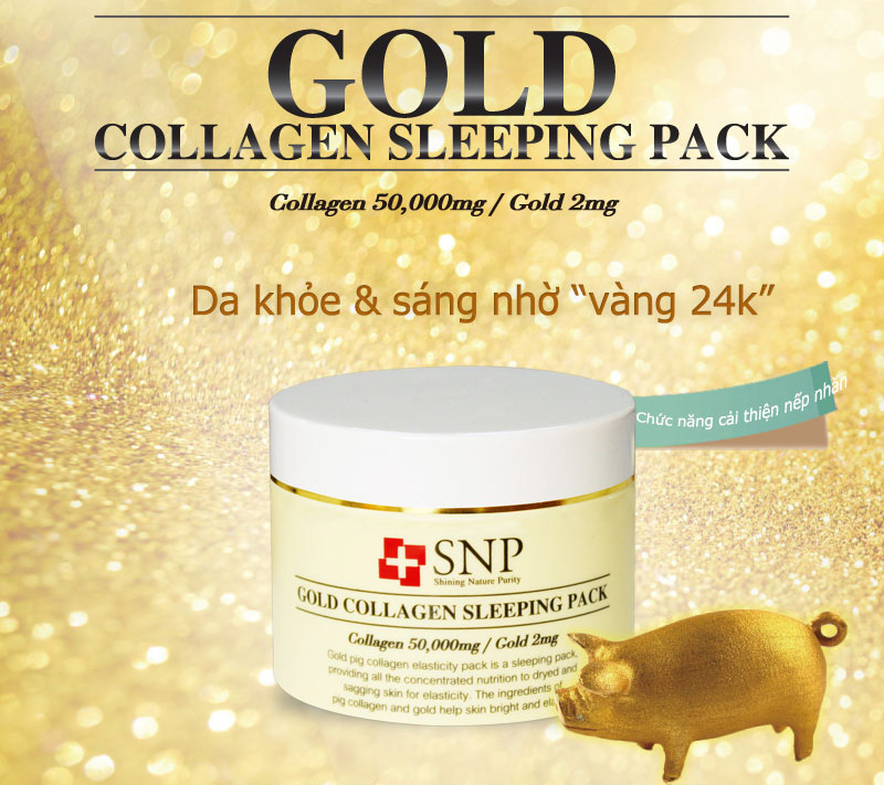 mat na ngu snp gold collagen sleeping pack 100g