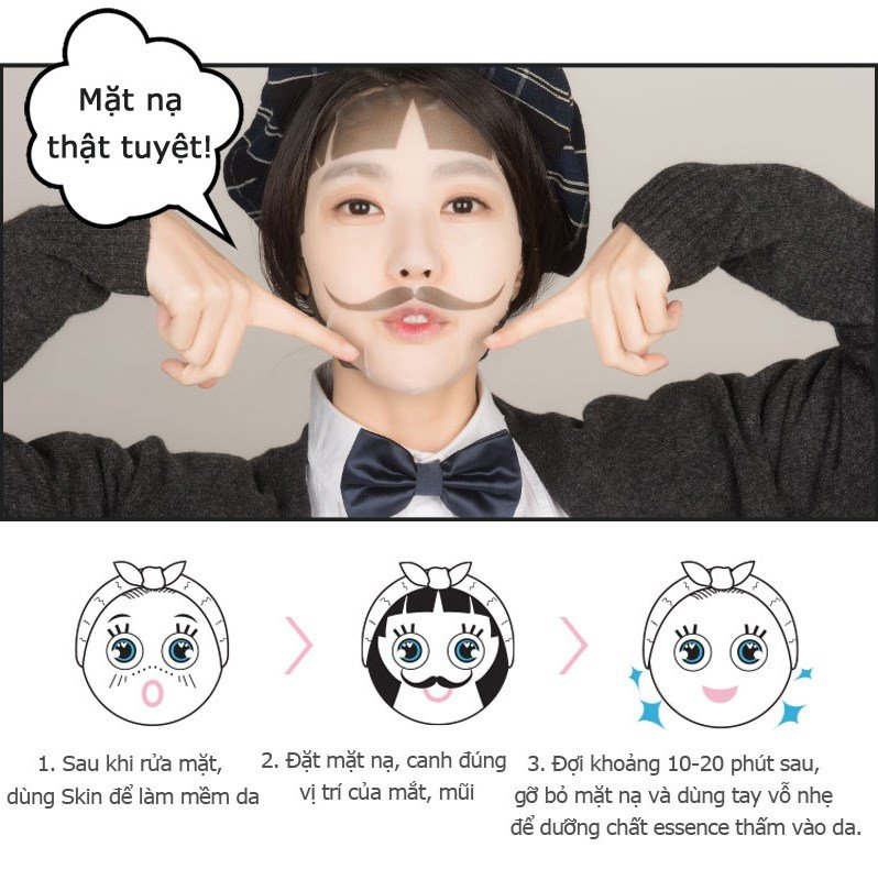 mat na selfie phong cach lover boy snp gentle girl lover boy whitening mask des 5