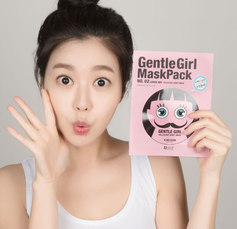 mat na selfie phong cach lover boy snp gentle girl lover boy whitening mask des 4