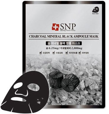 mat na duong tinh chat than hoat tinh snp charcoal mineral black ampoule mask des 2