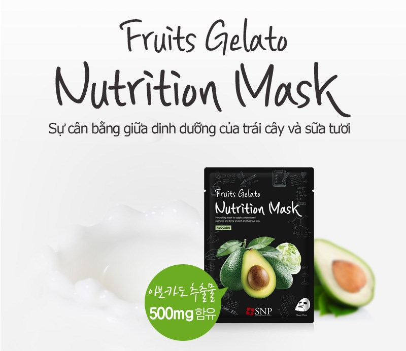 mat na tinh chat bo xay dong lanh snp fruits gelato nutrition mask 25ml des 1