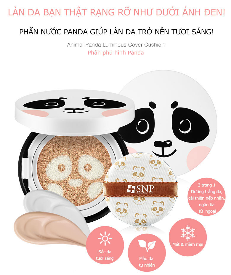 phan nuoc tong nen trang snp animal panda luminous cover cushion 01