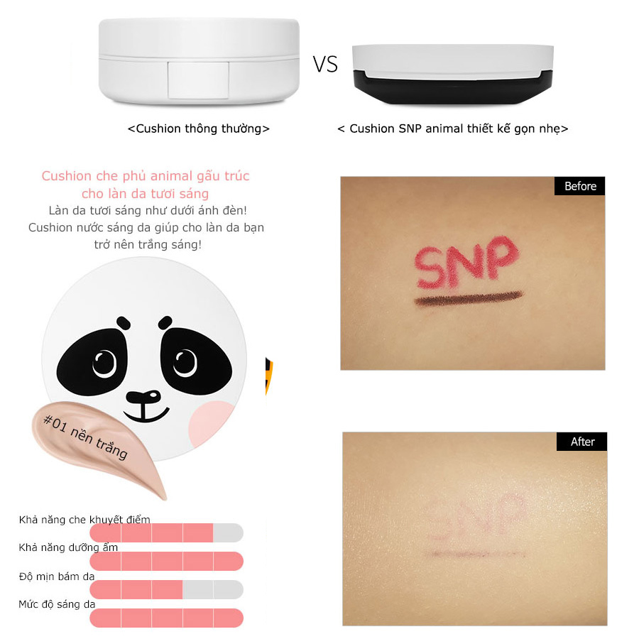 phan nuoc tong nen trang snp animal panda luminous cover cushion 04