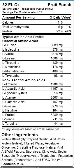 Liquid Amino Fruit Punch info