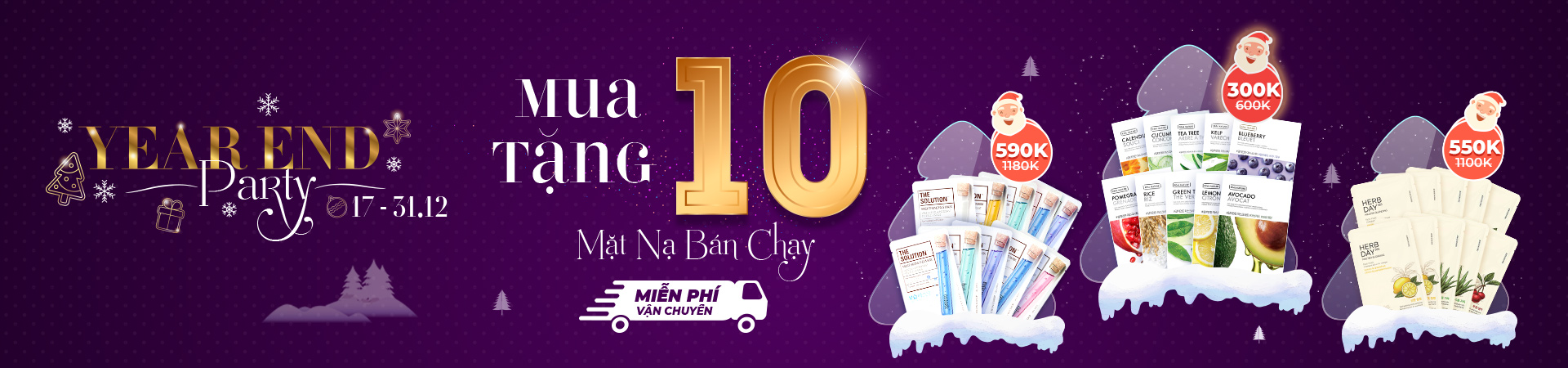 YEAR END PARTY - MUA 10 TẶNG 10