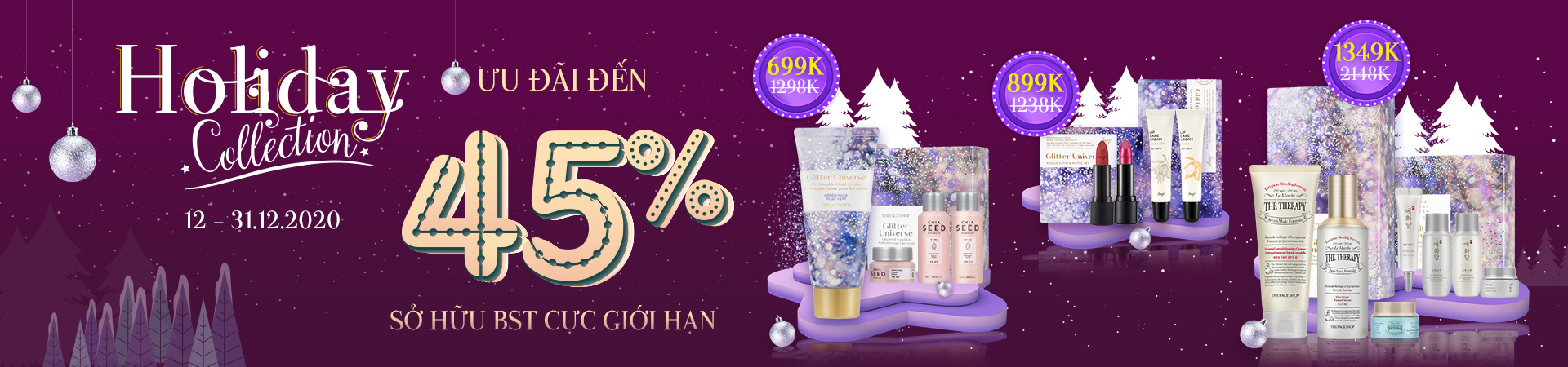 HOLIDAY COLLECTION - GIẢM ĐẾN 45%