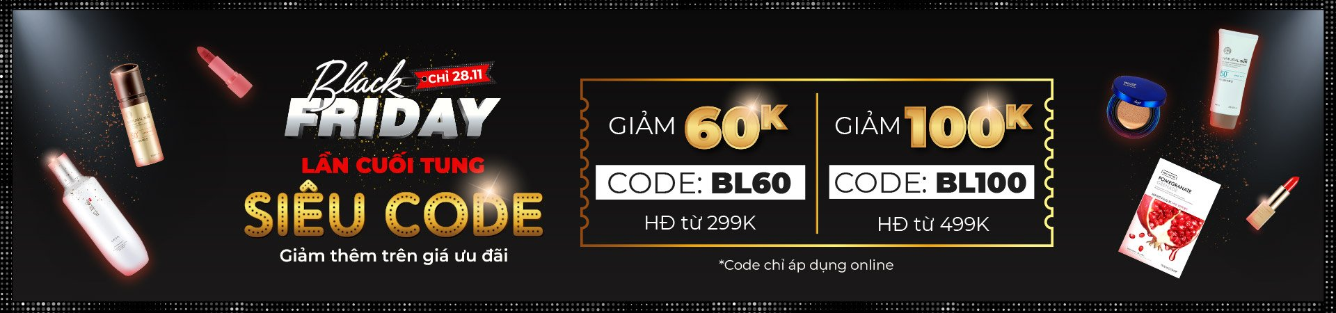 BLACK FRIDAY - SPECIAL COMBO ĐẶC QUYỀN ONLINE 28 - 30.11