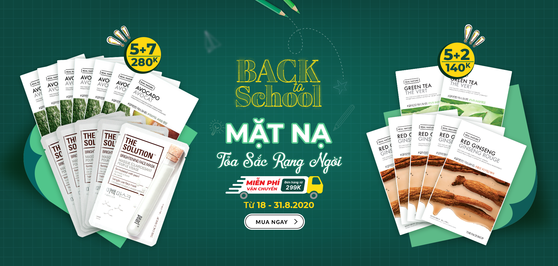 CT Back To School - Real Nature Mua 5 Tặng 2 (18-31.08)