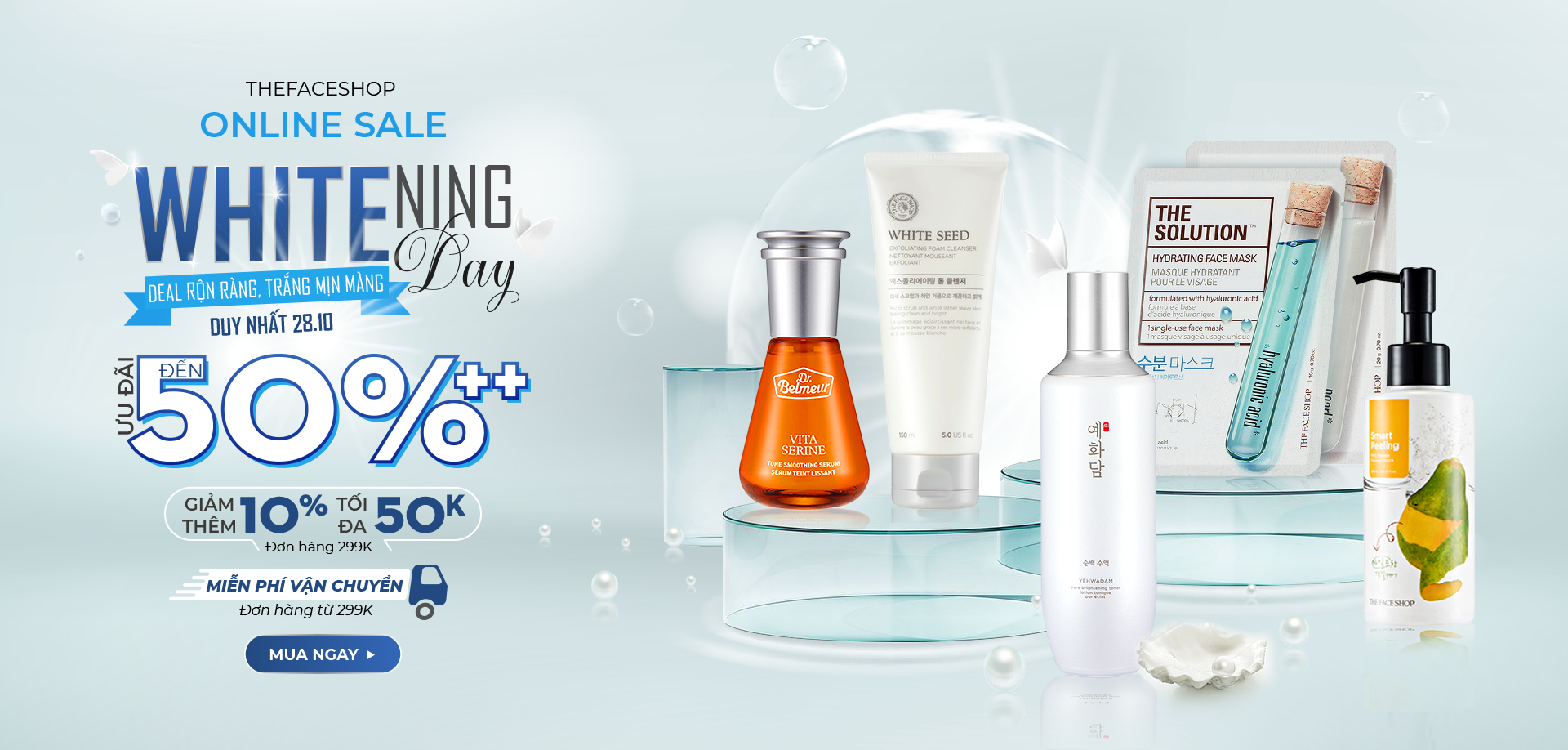 WHITENING DAY- SERUM ĐẾN 50%