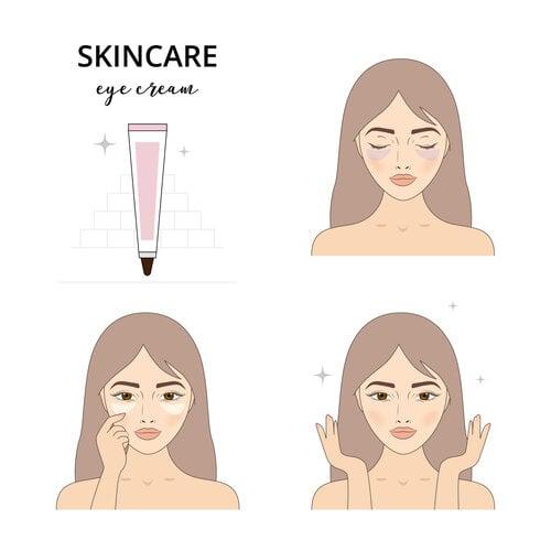 dùng kem dưỡng giảm nếp nhăn vùng mắt