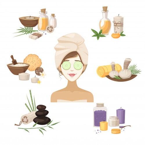 dùng các nguyên liệu thiên nhiên chăm sóc da sau sinh
