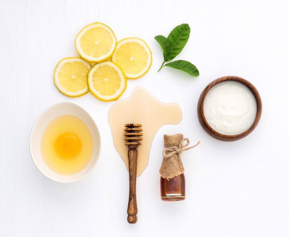 Chanh mật ong kết hợp làm nên mặt nạ sữa chua