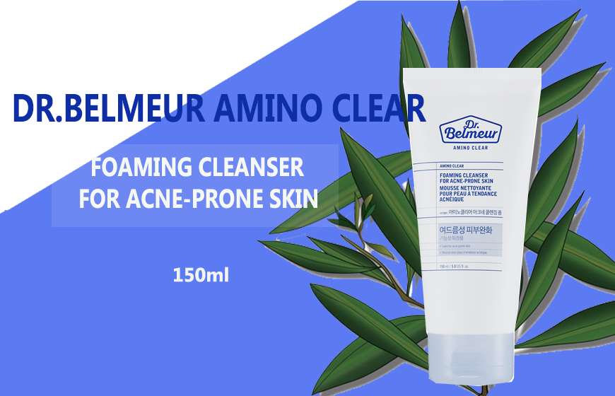 sữa rửa mặt DR.BELMEUR AMINO CLEAR FOAMING CLEANSER FOR ACNE-PRONE SKIN