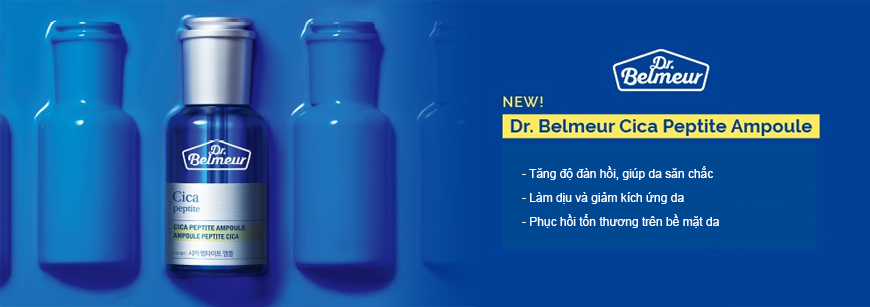 Tinh Chất Phục Hồi Làm Săn Chắc Da THEFACESHOP DR.BELMEUR CICA PEPTITE AMPOULE 45ml dr belmeur cica peptite ampoule 34d6e37879d544db8b364a73f85e6067