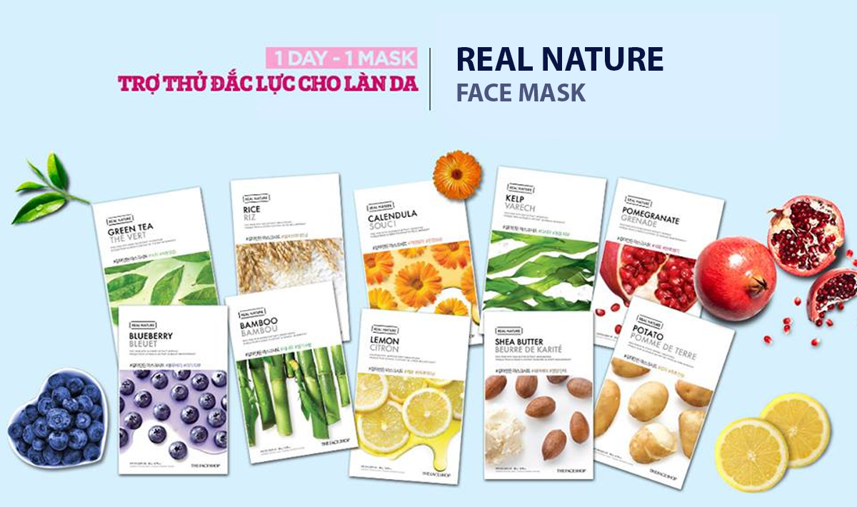 Dòng mặt nạ The Face Shop Real Nature