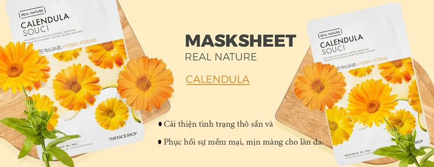mặt nạ The Face Shop Real Nature chiết xuất hoa cúc