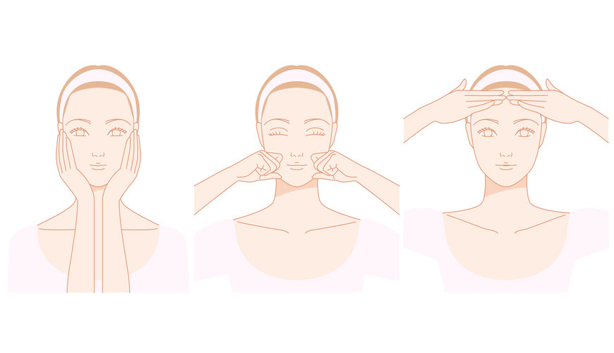 massage trán ngăn ngừa nếp nhăn