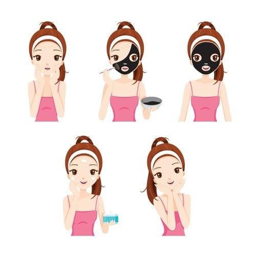 Có thể dùng miếng dán hoặc mặt nạ lột trị mụn ẩn