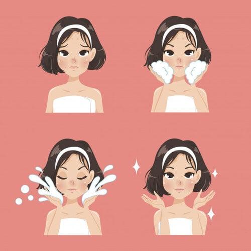 rửa mặt luôn là bước cần thiết trong quy trình chăm sóc da