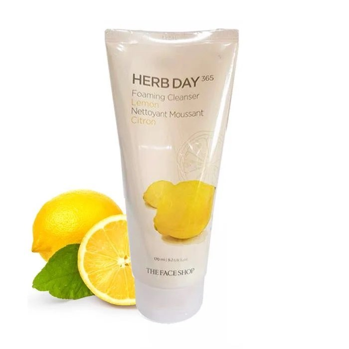 sữa rửa mặt Herb Day 365 Lemon The Face Shop