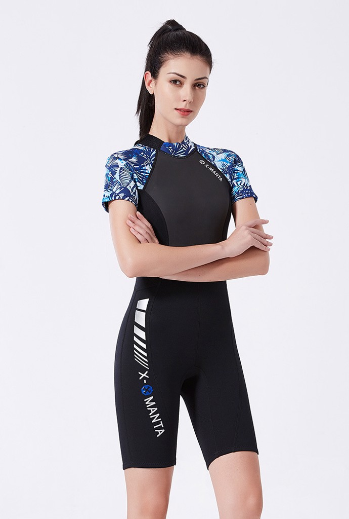 Wetsuit 3MM SCR Neoprene for man - ngắn tay