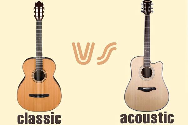 Làm thế nào phân biệt được đàn guitar classic và đàn guitar acoustic