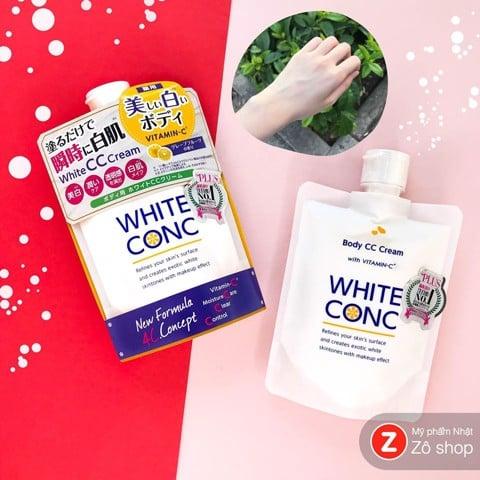 Kem dưỡng thể, dưỡng trắng lên tone tốt nhất Nhật Bản White Conc CC cream