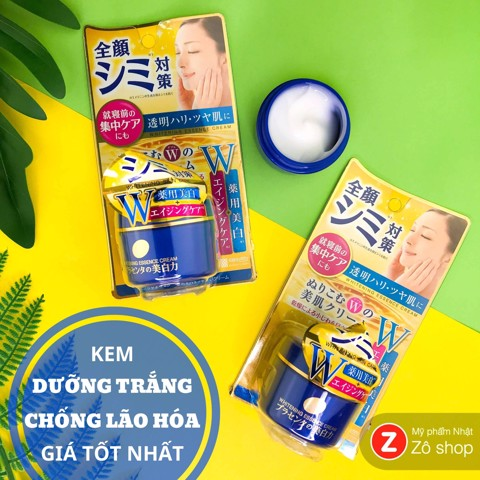 kem-duong-trang-chong-lao-hoa-meishoku-placenta-whitening-essence-cream-55g