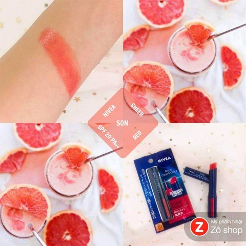Son dưỡng - Nivea Rich & Care Sheer Red SPF 20 PA++