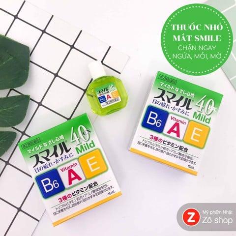 Review thuốc nhỏ mắt của Nhật Smile 40EX mild