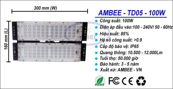 Headlamp led td05 100w