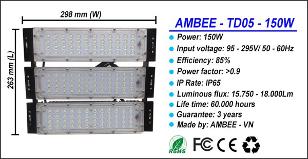 TD05 - LED Flood Light 150W đẳng cấp
