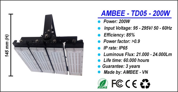 TD05 - LED Flood Light 200W siêu sáng