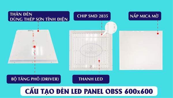 Đèn Led Panel Âm Trần OBSS 600x600 36W tinh tế