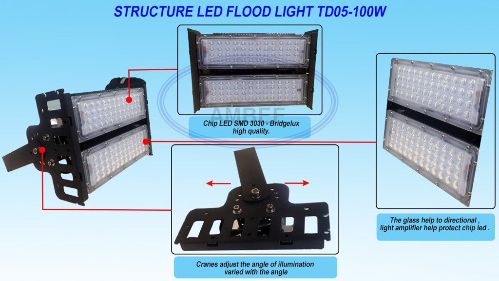 TD05 - LED Flood Light 50W tinh tế